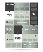 Diagramma a scatola, modello. schema di modulo infografica. — Vettoriale Stock
