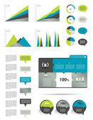 Infographics elements. Modern diagrams and charts. — Stock Vector