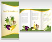 Health brochure design. Layout design. — Stock Vector