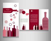 Wine menu flyer. — Stock Vector