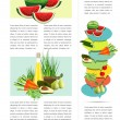Food brochure design. Sample page. — Stock Vector