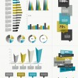 Sample page. Charts, graphs for info graphics. — Stock Vector