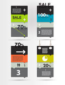Sale box diagram for infographics. Speech bubbles chart. — Stock Vector