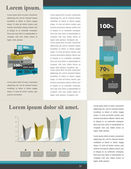 Infographics sample page. — Stock Vector