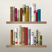 Book shelf illustration — Stock Vector