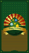 Christmas card. Vintage illustration. — Stock Vector