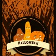 Halloween invitation card. Vintage vector. — Stock Vector