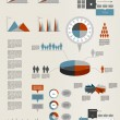Presentation template for infographics with pie chart diagram. Web elements. — Stok Vektör