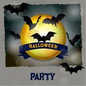 Halloween invitation card. Vintage vector. — Vettoriale Stock