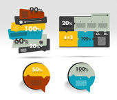 Box diagram, template. Infographics module scheme. — Stock Vector