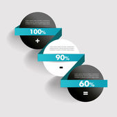 Simple diagram for infographics. Modern design template. Minimalistic vector banner. — Vector de stock