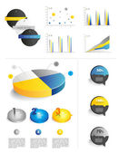 Collection of infographics elements. — Vecteur