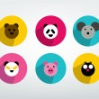 Set of modern children toy  button. Vector icon. — Stockvectorbeeld