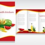 Health brochure design. — Stock Vector