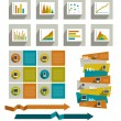 Infographics set elements. — Stockvectorbeeld