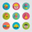 Collection of children toy sign. — Stock Vector