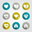 Set of modern medicine icon. — Stock Vector