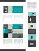 Infographics som element. vektor formgivningsmall. diagram, grafer och tal bubblse för utskrift eller webbsida. — Stockvektor