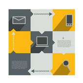 Modern infographics diagram. Box with text field. Web or print banner template. — Stock Vector