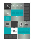 Modern infographics diagram. Box with text field. Web or print banner template. — Vecteur