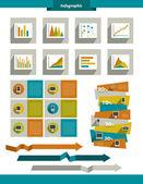 Infographics set elements. — Stockvektor