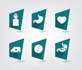 Set of modern simply medicine button. Vector icon. — Stockvektor
