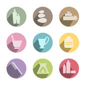 Collection of wellness icon. — Stock Vector