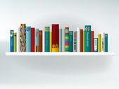 Book shelf. Interior concept.Vector background illustration. — Stock Vector