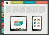 Modern website template. Colorful minimalistic option banner. Vector illustration. Box diagram. Blog, noticeboard background. — Stock Vector