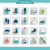 Winter sport icon. Vector illustration. — Stock Vector