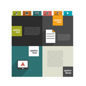 Modern website template. Colorful minimalistic option banner. Vector illustration. Box diagram. — Stockvector