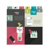 Modern infographic box diagram can be used for annual report. Web or print banner, template. Simply minimalistic option graphics design. Vector illustration. — Stockvektor