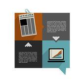 Modern original website template. Colorful minimalistic option banner. Vector illustration. Box diagram. Blog, noticeboard background. — Stock Vector