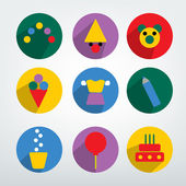 Children celebrate flat icon. — Vetorial Stock