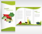 Health food design brochure. — Stock Vector