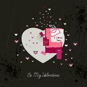 Валентина карты любви. — Cтоковый вектор