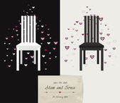 Wedding, Valentine or invitation card design. — Vector de stock