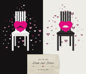 Wedding, Valentine or invitation card design. — Stok Vektör