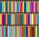 Plastic 3D colorful crayon background. — Stock Vector