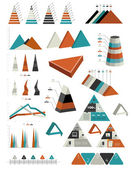 Triangle infographic collection. Graphs, charts, diagrams and speech bubbles collection. — Stock Vector