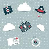 壁紙のデザイン。旅行の概念. — ストックベクタ
