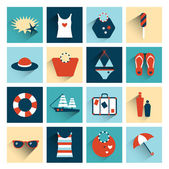Summer flat colorful icon collection. — Stock Vector