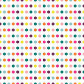 Color dot seamless repeat pattern. — Stock Vector