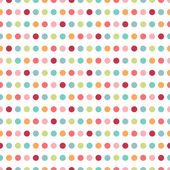 Colorful flat repeat wall paper polka dot design. Warm girl color. — Stock Vector
