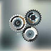 Info graphic circle diagram. Cog wheel. — Stock Vector