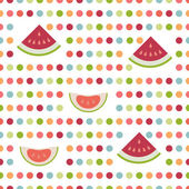 Simply flat polka fruit dot pattern. — Stockvector