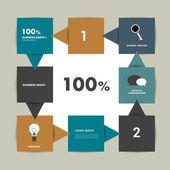 Numrerade diagram. infographic systemet mall. — Stockvektor