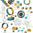 Big set of round infographic templates. Vector diagrams, schemes, charts, banners, step by step tutorials. — Stock Vector #49368741