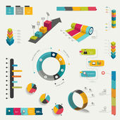 Collection of infographics elements. Colorful set template. — Stock Vector