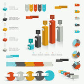 Collection of colorful infographic elements. Business vector shapes. — Stock Vector